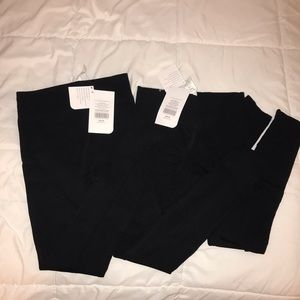 Fabletics black leggings with detail size small